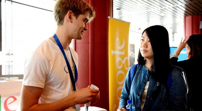 Molde student met Google on fair