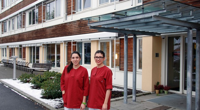 Spanish nursing students practicing in Molde