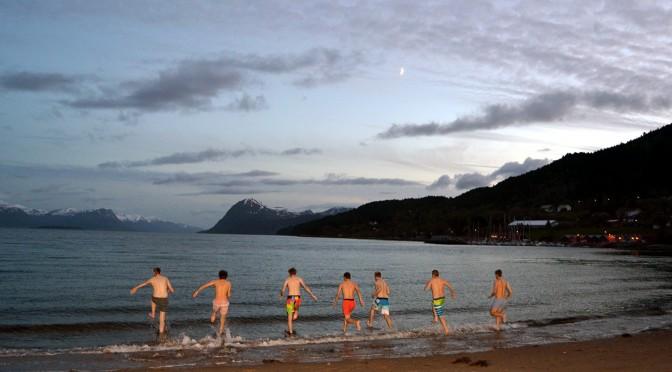 Midnight swimming