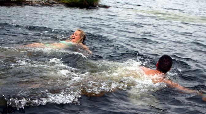 Tok badestopp på Audunstjønnan