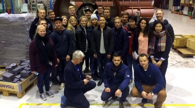 Studentar besøkte Brunvoll