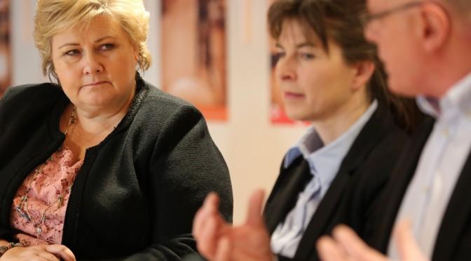 Se Erna Solbergs tale etter møtet i Kunnskapsparken