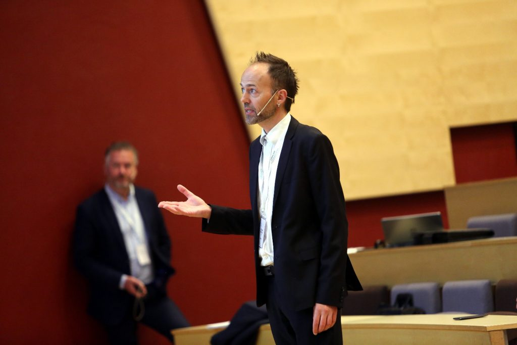 Erlend Alfnes at NTNU was one of the chairs of the special session. Photo: Marius A. Hansen