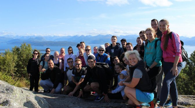 New students enjoyed the spectacular Varden view