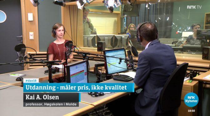 Iselin Nybø tok avstand fra Kai A. Olsens uttalelse om å «late som vi underviser»