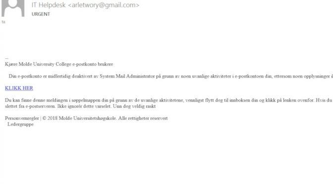 IT-sjef: – HiMolde-ansatte går ikke på phishing