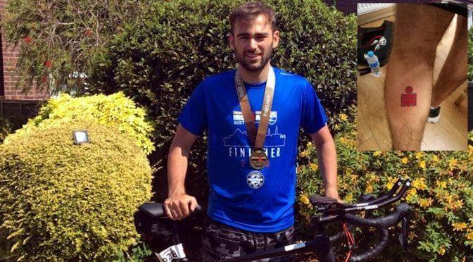 For to år siden kunne han ikke svømme, men nå er Fraser Sturgess (22) en Ironman