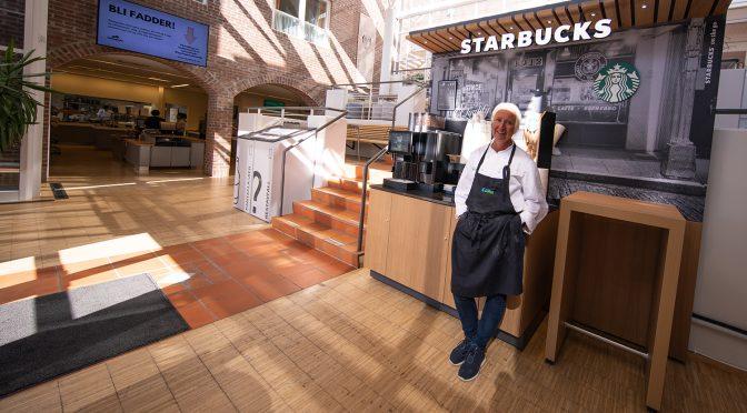 Åpnet ny Starbucks-stasjon i påskeuka