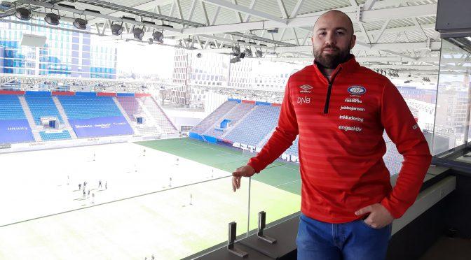 Utplassert der han draumer om å jobbe: På ein stor stadion i Noreg