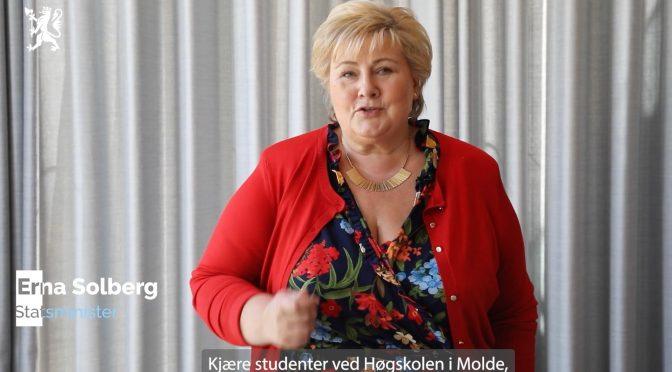 Se åpningsseremonien for høgskolen i Molde og Kristiansund